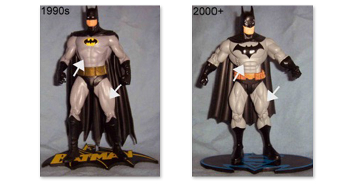 Modern Batman action figures