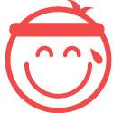 smiling emoji with sweatband