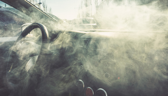 smoke in car