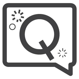 """""""Q"""" inside speech bubble"""
