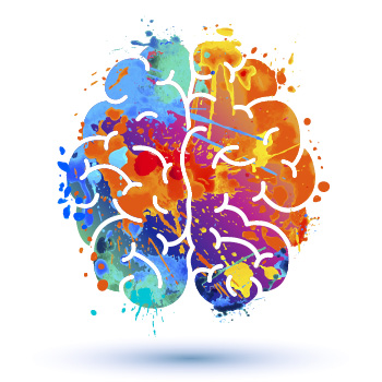 colorful brain illustration