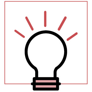 light bulb icon | how to be less insecure