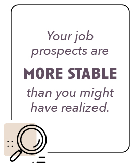 Your job prospects are more stable than you might have realized.