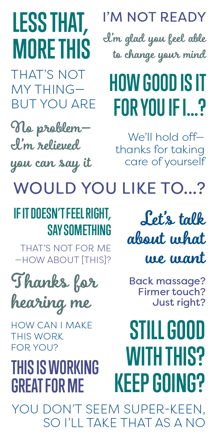 consensual communication infographic