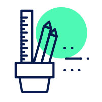 icon, pencil and ruler in container | how to get back on track after a bad semester
