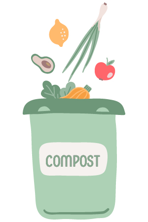 compost bin icon | how to reduce food waste at home