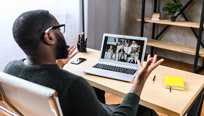 Black male on video conference call from home | tips for a video interview