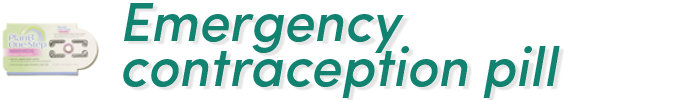 Emergency contraception pill