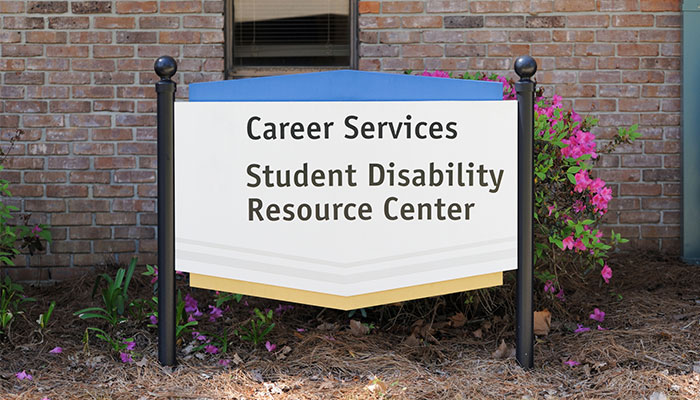 campus sign for Student Disability Resource Center