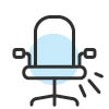 desk chair icon