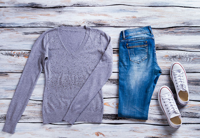 Outfit laid out