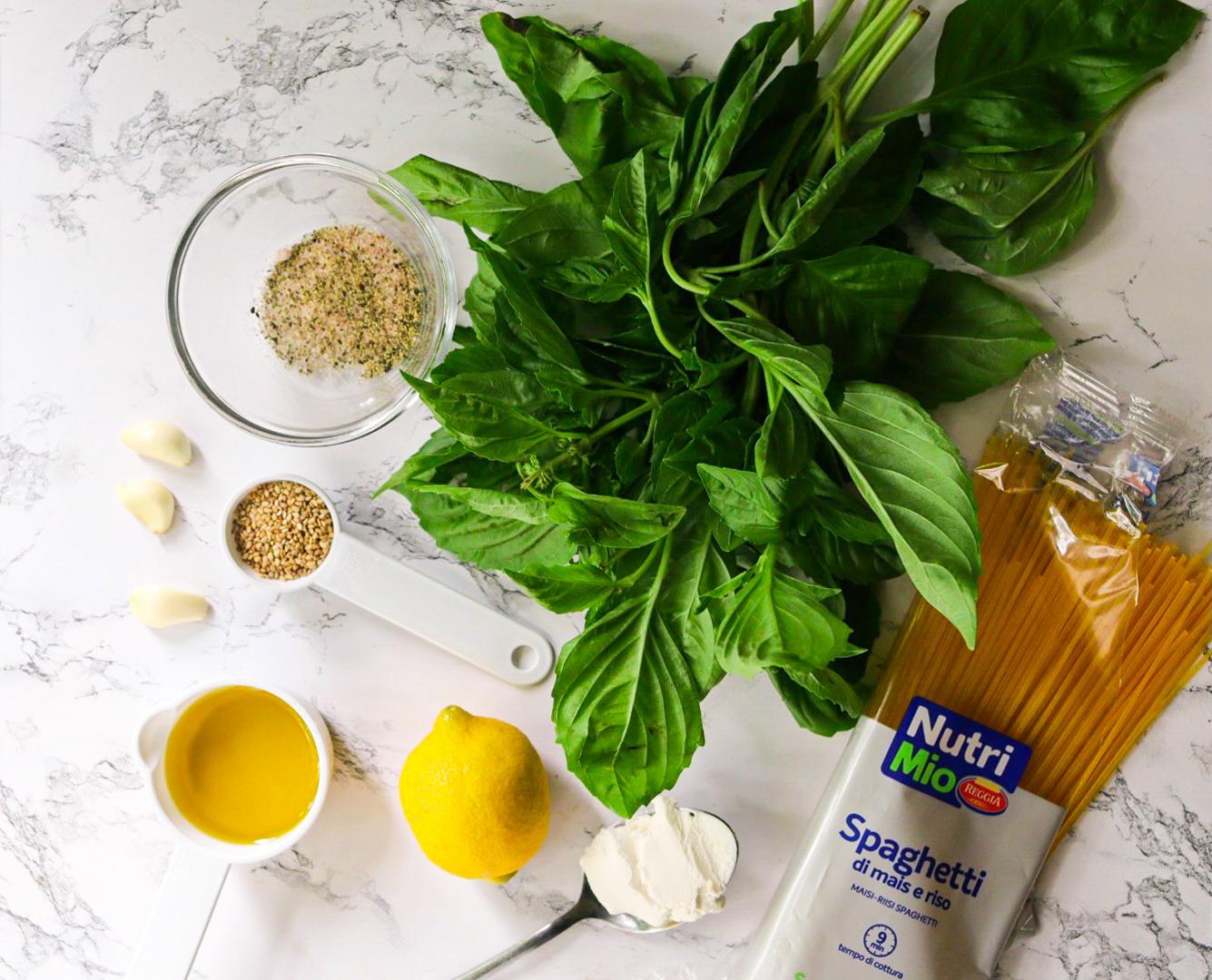 Ingredients | vegan pesto sauce