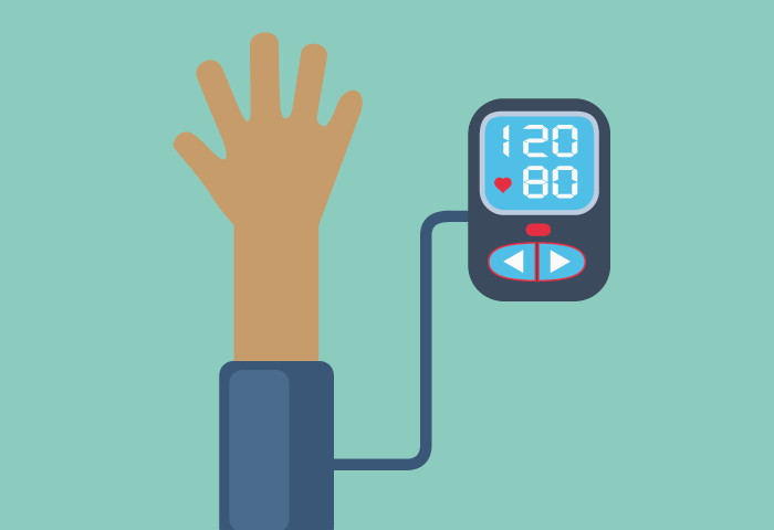 Illustration of blood pressure test