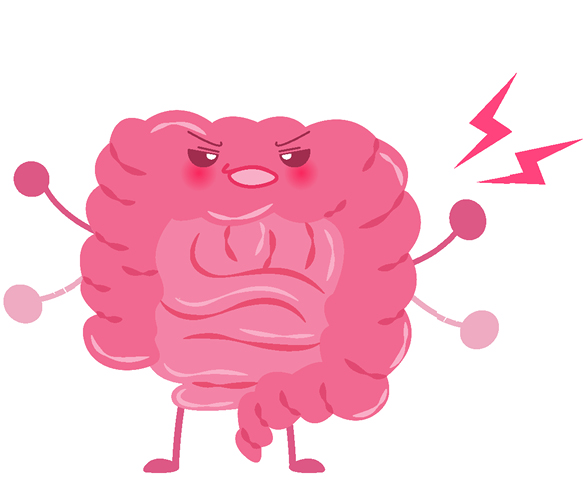 illustration of stressed gut