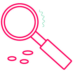 science icon magnifying glass