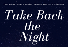 Take Back the Night, November 7th, 7pm