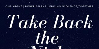 Take Back the Night, November 7th, 7pm