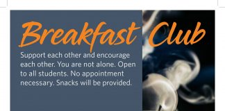 Breakfast Club Support Group meets Fridays at 8 AM at the SCHC