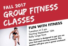 FALL 2017 GROUP FITNESS CLASSES FUN WITH FITNESS Tuesdays at 5 pm Starting September 12th Kelly Large Gym This session is designed to get you on your feet and moving around. This session will give you a great workout! BOOTCAMP Thursdays at 5 pm Starting September 14th Kelly Large Gym This session is more on the challenging side. If you're looking for a vigorous, intense workout then this is the session you want! These classes are FREE for all BSU students, faculty, and staff. Just bring your Connect Card and water! Questions? Contact cdenune@bridgew.edu