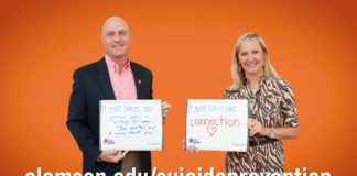 President and Mrs. Clements encourage students to #StopSuicide
