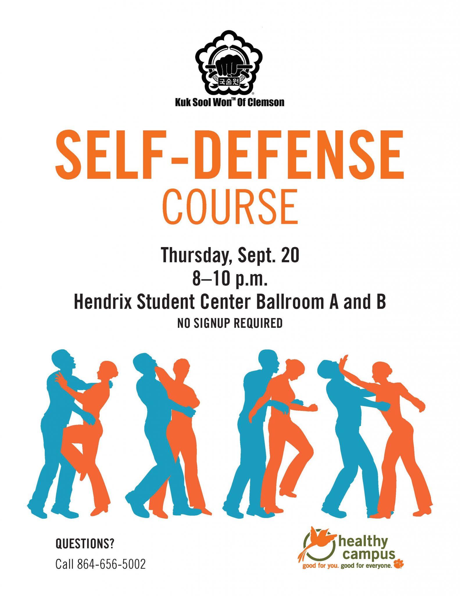 Self-Defense workshop on Sept. 20
