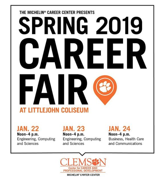 Spring Career Fair Jan. 22–24