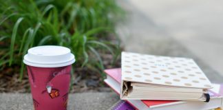 picture of textbooks and coffee
