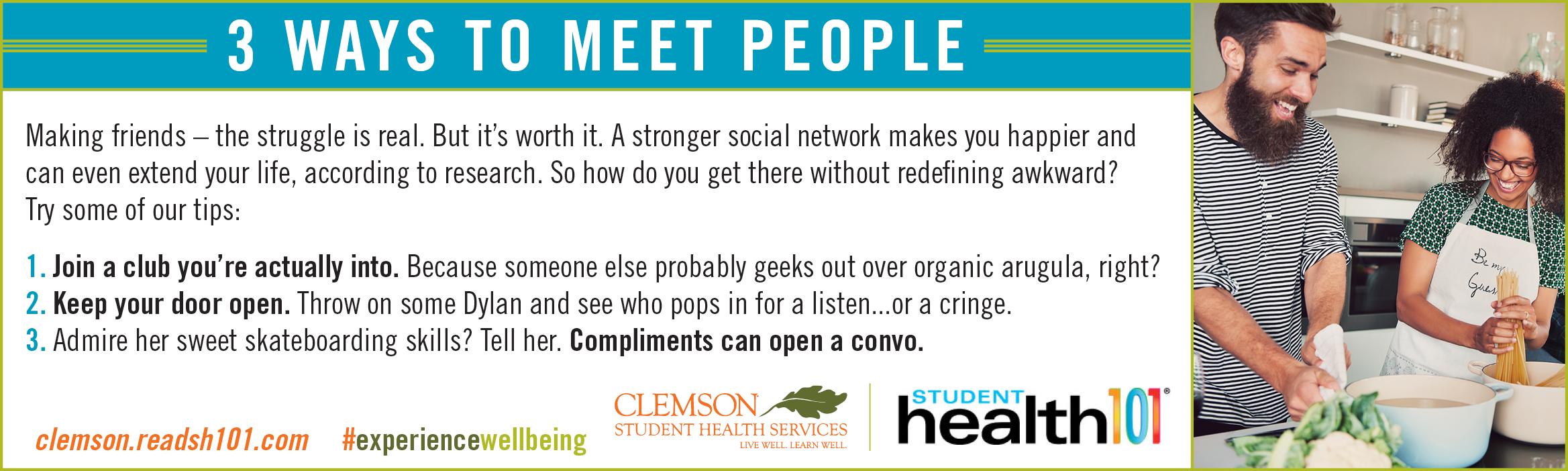 3 Ways to Meet People