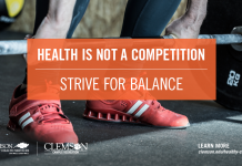 Health is not a competition – strive for balance