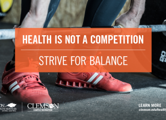 Health is not a competition –strive for balance