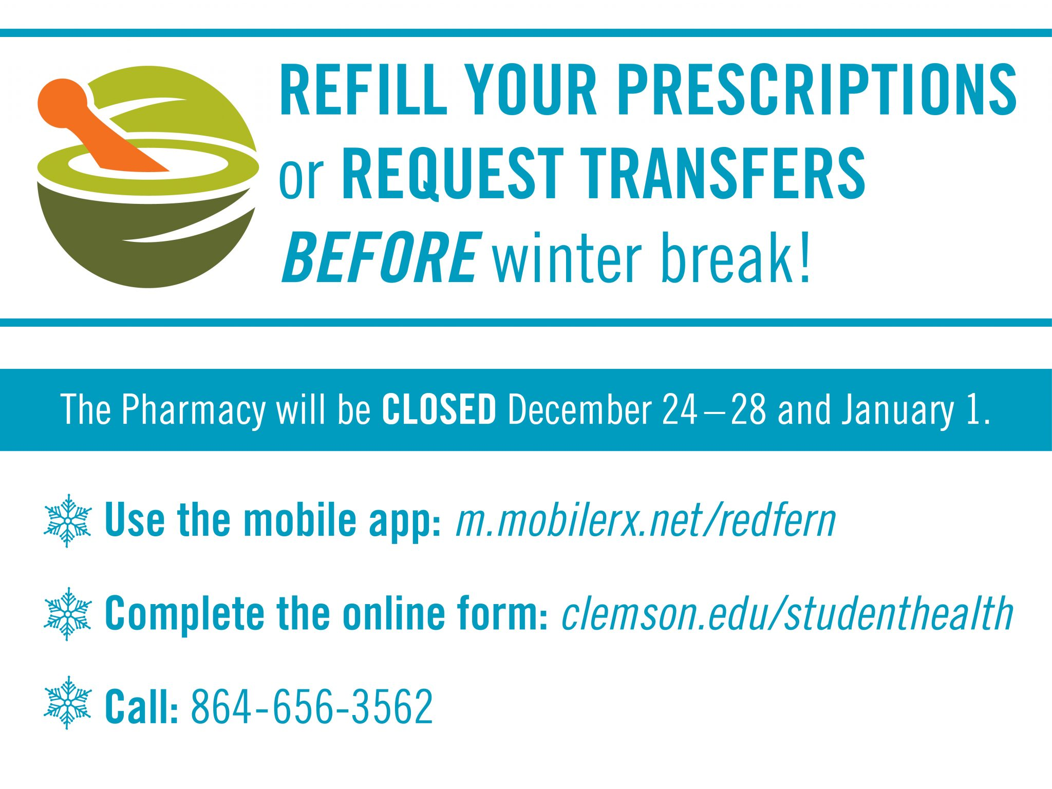Refill your prescriptions