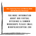 The Center for Mindfulness and Compassion is offering Mindfulness online drop-in sessions during May! Take the time to de-stress 🧘♀️🧘♂️