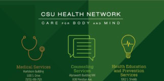Medical Services - Hartshorn Building - 600 S. Drive, (970) 491-7121 - Medical Clinic, Behavioral Health, 'Immunizations Clinic, 'Laboratory Services, 'Pharmacy, 'Radiology Services, 'Triage Clinic, 'Allergy Clinic, 'Dental Services, 'Massage Therapy, 'Men's Clinic, 'Nutrition Consultation, 'Optometry Services, 'Physical Therapy Services, 'Psychiatry Services, 'Radiology Services, Sports Medicine/Orthopedic Clinic, Student Health Insurance, 'Travel Clinic, 'Women's Clinic. ' Counseling Services - Alyesworth Building - NW 800 Meridian Ave. - (970) 491-6053 - Individual and Couples Counseling, Groups and Workshops Drugs, Alcohol, and You Programs (DAY) Learning Assistance, Emergency Services Specialty Counseling (iTEAM), Counseling Consultations with Colleagues/Parents/ Friends. Health Education and Prevention Services - 1302 S. Shields - Suites A1-2 and A2-1 (970) 491-1702 - Alcohol and Other Drug Prevention, 'Mental Health Initiatives, 'Resiliency and Well-Being, 'Peer Education (CREWS), 'Sexual Health Initiatives, 'Tobacco Cessation, Learn more about CSU Health Network Services at health.colostate.edu.