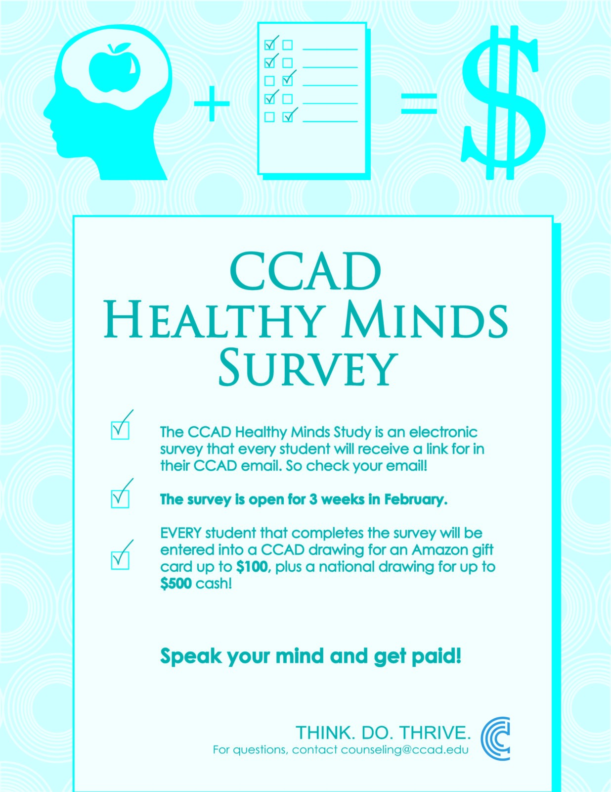 Get This Survey On Your Mind - Columbus College of Art and Design