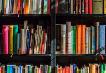 Assortment-of-books-on-a-book-shelf