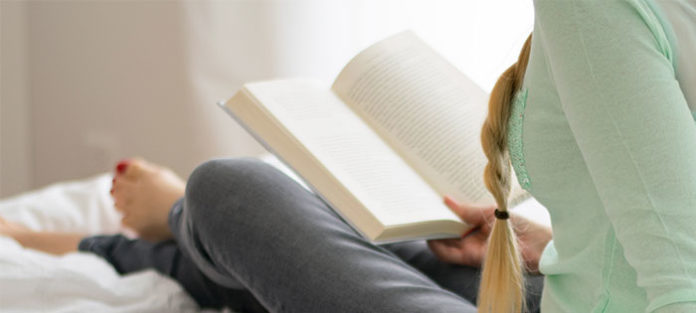 Female reading a book