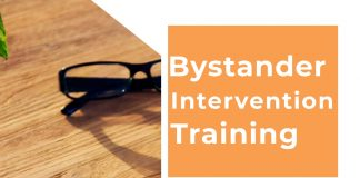 Bystander Intervention Training Fall 2019. Room C120. October 23rd and November 13th from 10-11am and 2-3pm each day. Learn how to act when others remain silent. Also, learn how TitleIX plays a role at ECC. Email studentwellness@elgin.edu to register in advance.