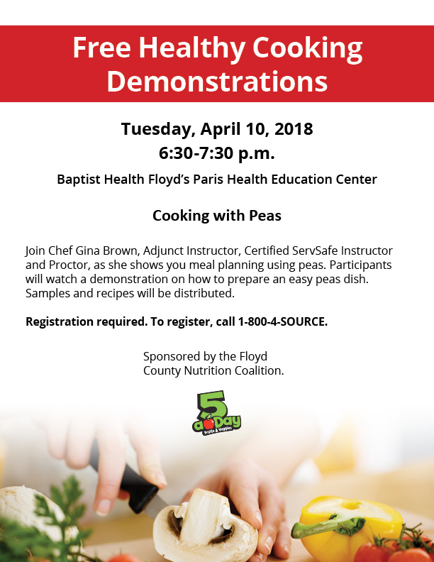Free Healthy Cooking Demonstrations - Indiana University ... Healthy Cooking Demonstration