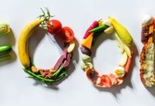 VEGETABLES USED TO SPELL THE WORD FOOD