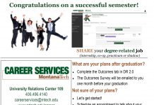 Congratulations from Montana Tech Career Services!