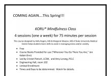 Free spring MIndfulness Course for Montana Tech Students!