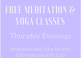 Free Meditation and Yoga Classes on Thursday Evenings!