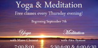 Free Yoga and Meditation Classes on Thursdays!