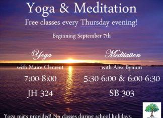 Free Yoga and Meditation Classes on Thursdays!