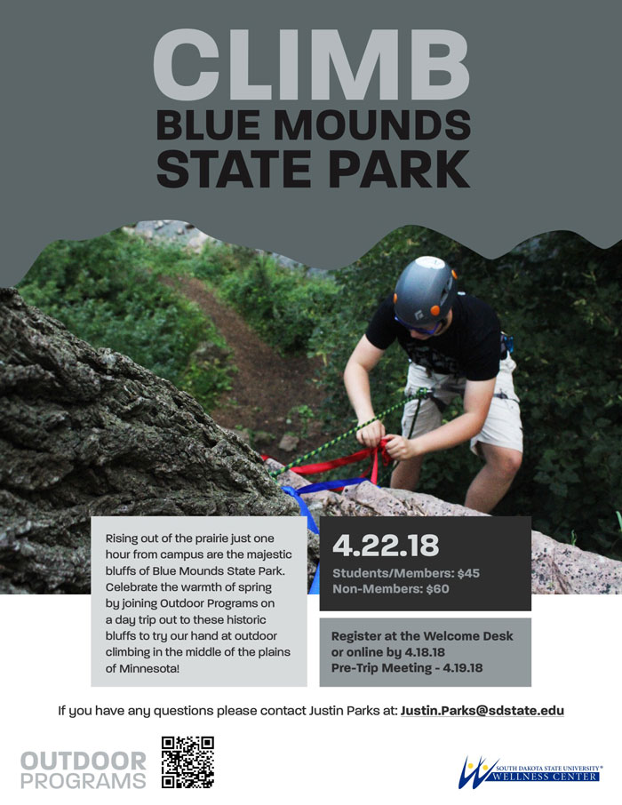 Climb blue mounds state park