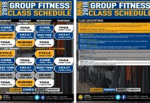 Summer Group Fitness Class Schedule