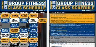Campus Recreation Group Fitness Schedule