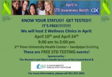 April is STD Awareness Month!! - We will be hosting FREE STD TESTING EVENTS! - April 10th and 24th- 9am to 2pm - 2nd floor University Health Center