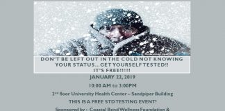 University Health Center FREE STD TESTING EVENT January 22, 2019- 10am to 3pm