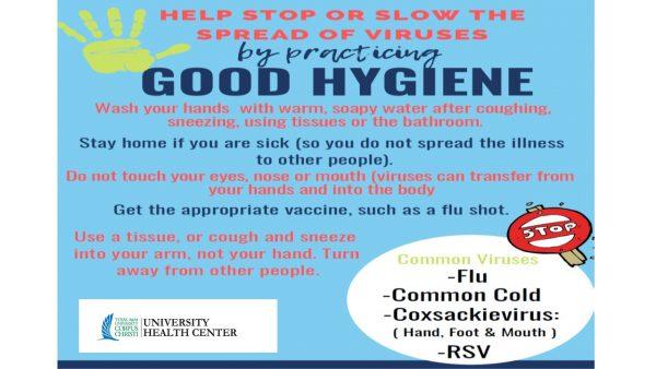 Stop or Slow the Spread of Viruses--- Practice good hygiene